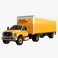 f-650 box trailer 3D model