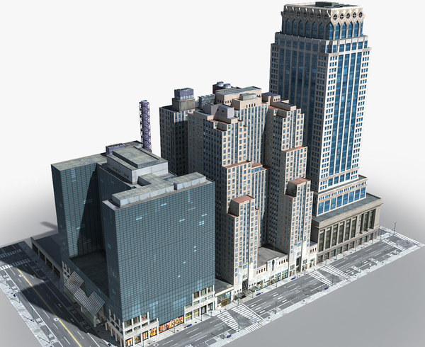 3D new york manhattan lexington model