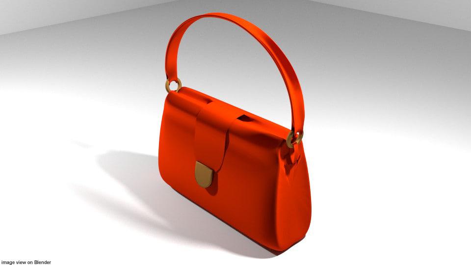 handbag bag 3D