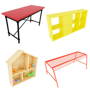 ikea seat bank table 3D model