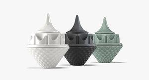 ceramic jar lid 3D model