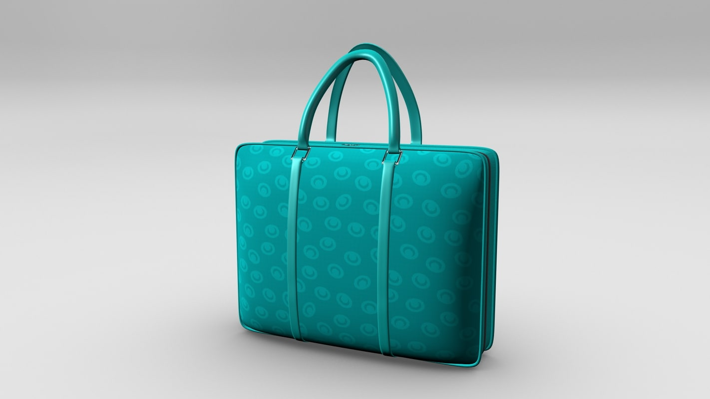 3D ladies handbag model