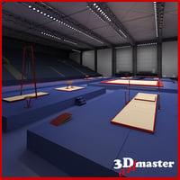 gymnastics arena 3D model