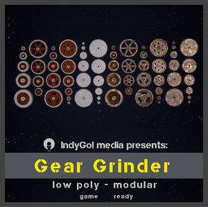 asset pack gear 3D