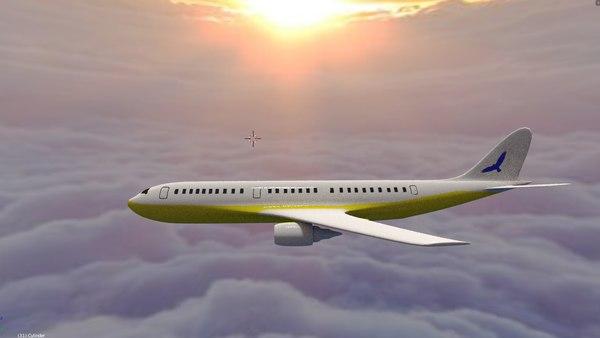 commercial jet 3D model