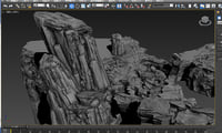 3D mountain 3D model bbc