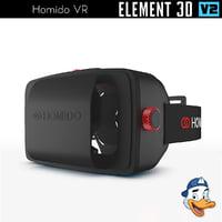 homido vr element 3D model