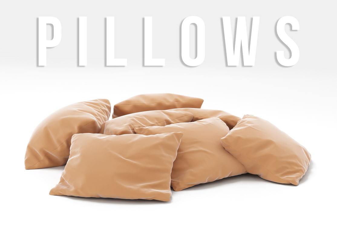 3D pillows set