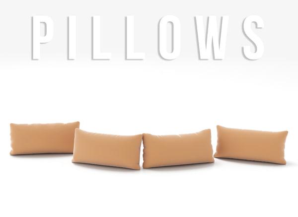 pillows set 3D model
