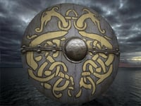 3D shield viking model