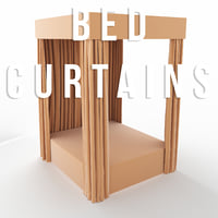 bed curtains 3D model