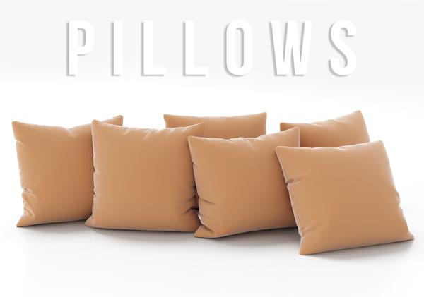 3D pillows set