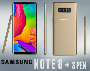 3D realistic galaxy note 8