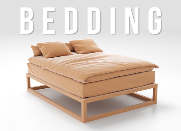 bedding set 3D model