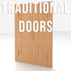 traditional old door 3D model