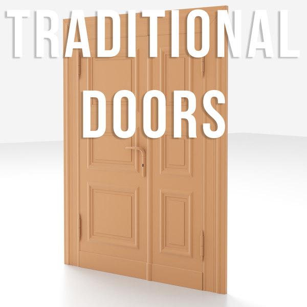 traditional old door 3D model