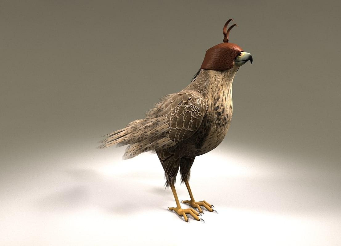 3D model falcon