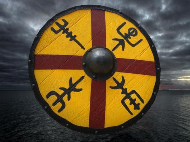shield viking 3D model