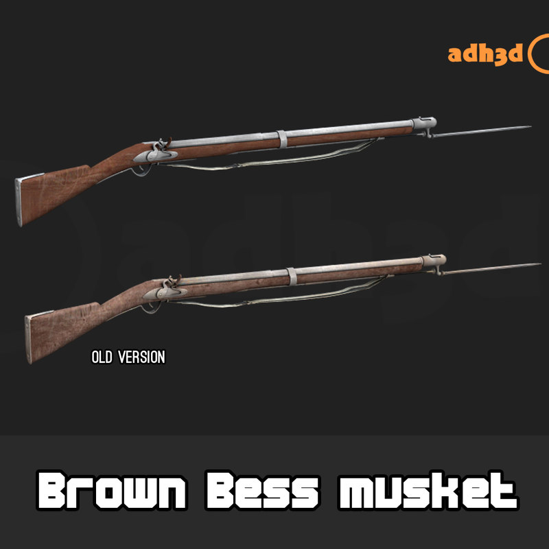 brown bess musket 3D model