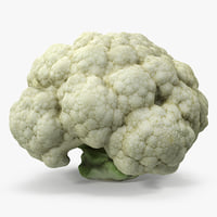 3D fresh cauliflower cabbage vegetable