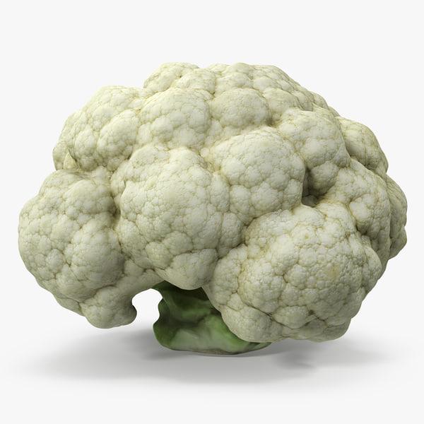 3D fresh cauliflower cabbage vegetable