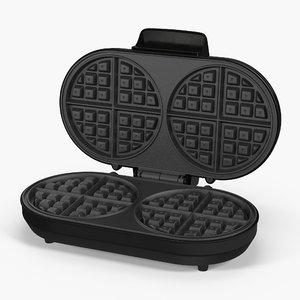 double waffle maker 3D