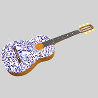 mosaic guitar 3D model