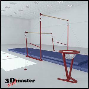 gymnastics uneven bars model