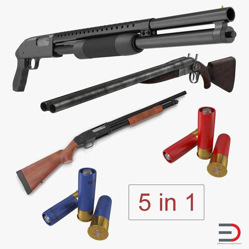 3D shotguns mossberg 500 model