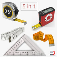 Measure Tools 3D Models Collection 3
