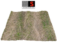 3D model farmland ground 16k hd