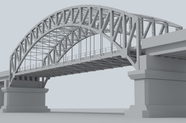 3D road bridge