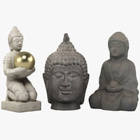 buddha statues model