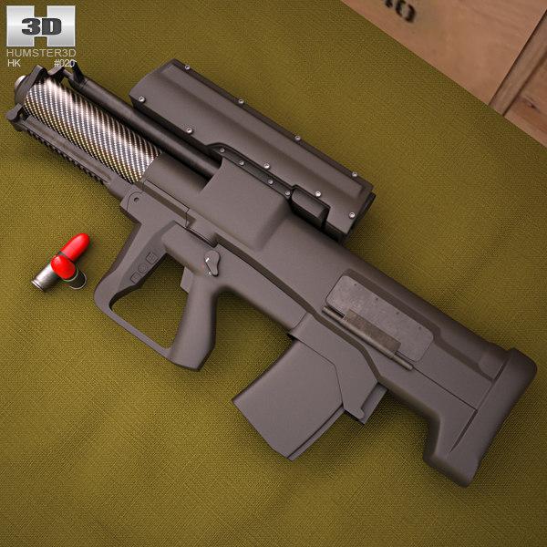 3D model heckler koch h