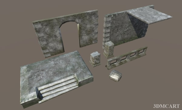 3D ancient construction