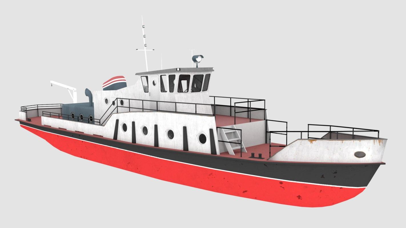 3D boat river