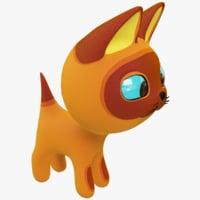 3D cartoon kitty