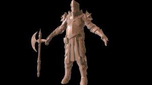 knight hi 3D model