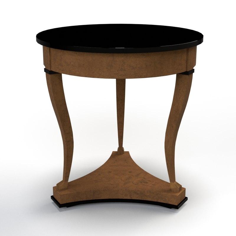 end table 3D model