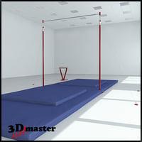 gymnastics bar 3D
