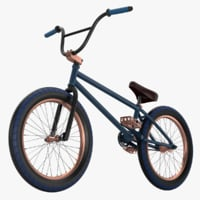 3D bmx bike bicycle chain model