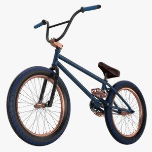 3D bmx bike bicycle chain model