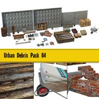 urban debris pack 04 3D