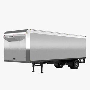 3D short box trailer