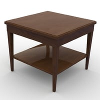 3D model end table