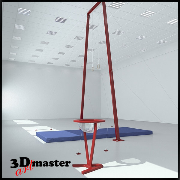 gymnastic rings 3D model