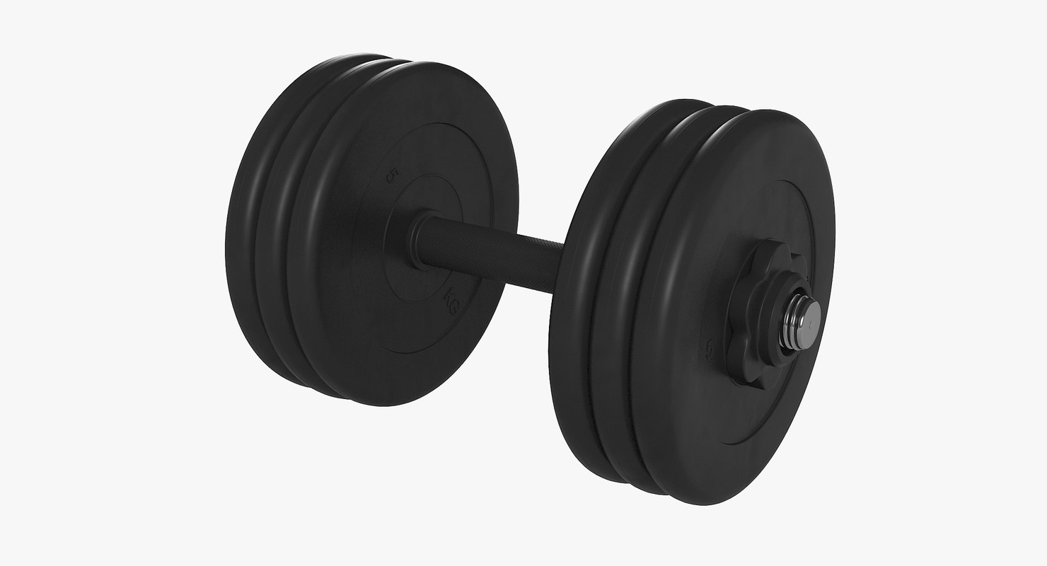 rubber dumbbell model