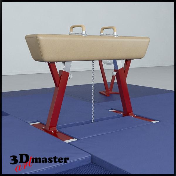 pommel horse set 3D model