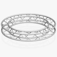 circle square truss diameter 3D