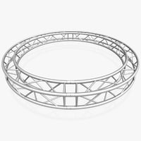 3D model circle square truss diameter
